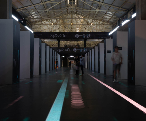 Zero One Tech Festival hallway