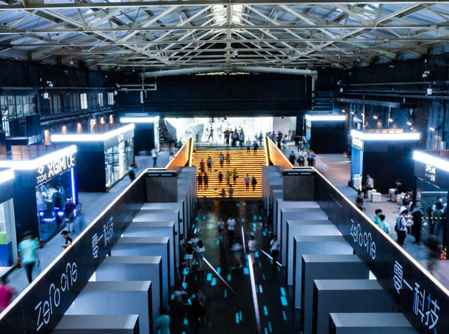 Zero One Tech Festival hall after rejuvenation