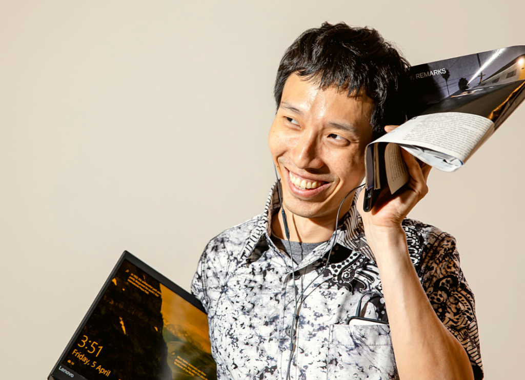 Zhe Wei Chong smiling