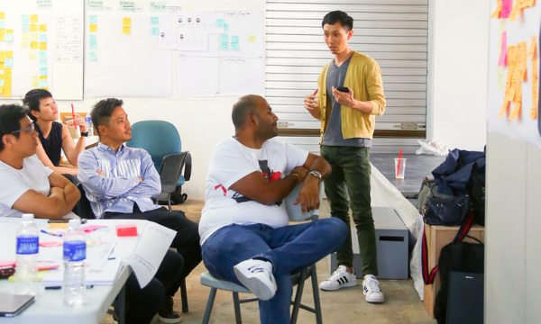 A man conducting a co-creation workshop